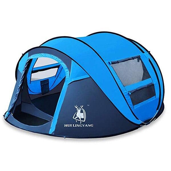 HUILINGYANG 190 T tentes en Polyester imperméable à l'eau rapide tente d'ouverture automatique 3-4 personnes Camping randonnée fournitures de plein air - 5