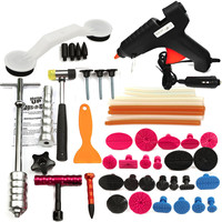 Hot Sale PDRs Tools Car Repair Tool Set Dent Removal Slide Hammer Puller Lifter Kit Paintless Dent Repair Tabs with Glue Gun