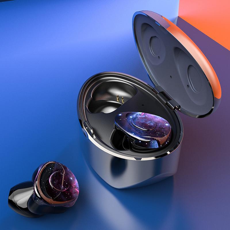 Aipao X1 casque Bluetooth Binaural sans fil TWS 5.0 dans l'oreille réduction du bruit Sports écouteurs portables avec bac de chargement