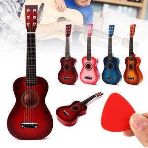Kids Toy Learning-Toys Acoustic-Guitar Musical-Instrument Gifts Wooden 6-Strings Children