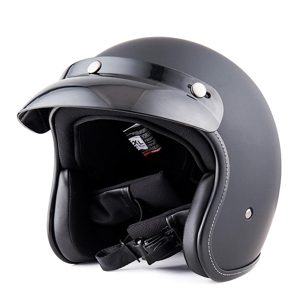BYB moto Scooter rétro Vintage demi visage casque cyclisme pour moto Motocross casque engrenages de protection