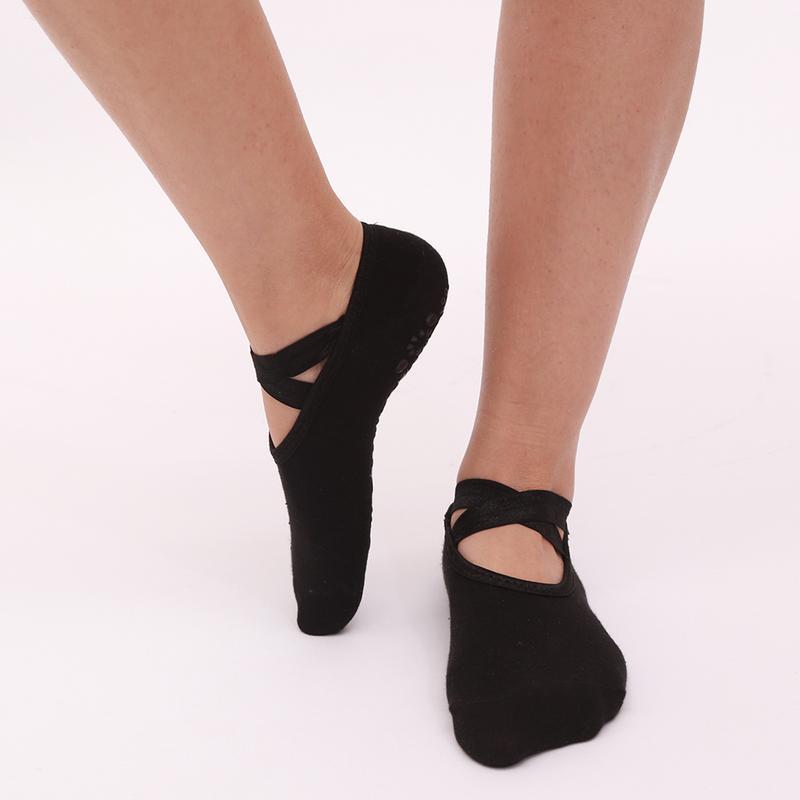 New Yoga Socks Women's Non Slip Open Instep Cross Yoga Socks Comfortable Breathable Simple And Elegant Design Sports Socks