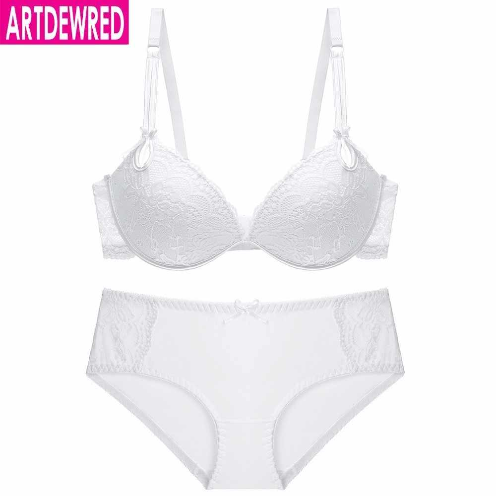 57c2485c69b ... High quality Deep V Sexy Plus size Push up Bra set Floral Embroidery  Lace Women Underwear ...