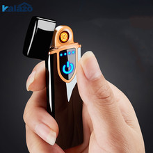 1pc High Quality USB Lighter Touch-senstive Switch Lighter Cigarettes For Smoking Ciga Electronic Lighter Birthday Gift For Man