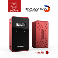 Newest Original Snowwolf 200w c Mod Box Fit 18650 Battery Touch Sreen Vape Mod With max 235 Watt Electronic Cigarette Mod Box