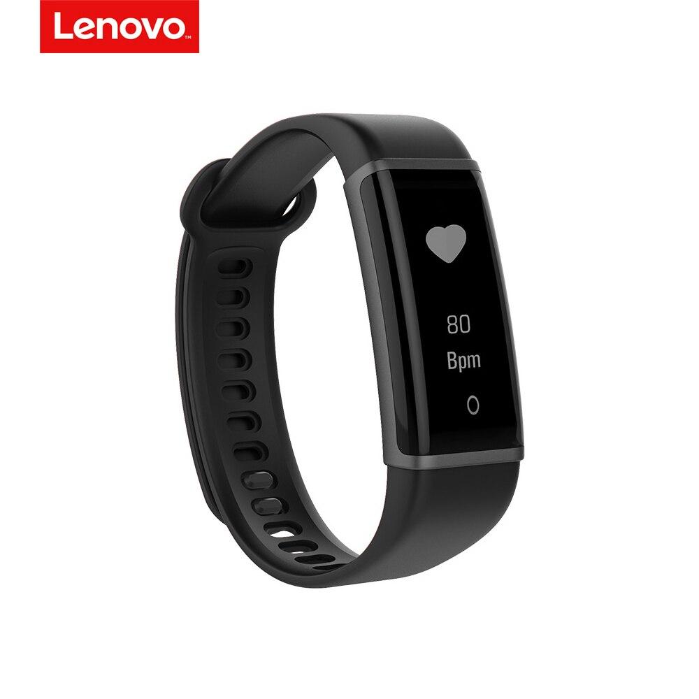 Lenovo Hx03 0,87 Inch Oled Bildschirm Ip68 Herz-monitor-sport Bluetooth Armband Smart Armband Sport Tracker Für Android Ios Tragbare Geräte