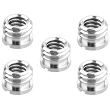 5 Pack 1/4 inch to 3/8 inch Screw Standard Adapter Reducer Bushing Converter for DSLR Camera Camcorder Tripod Monopod цена