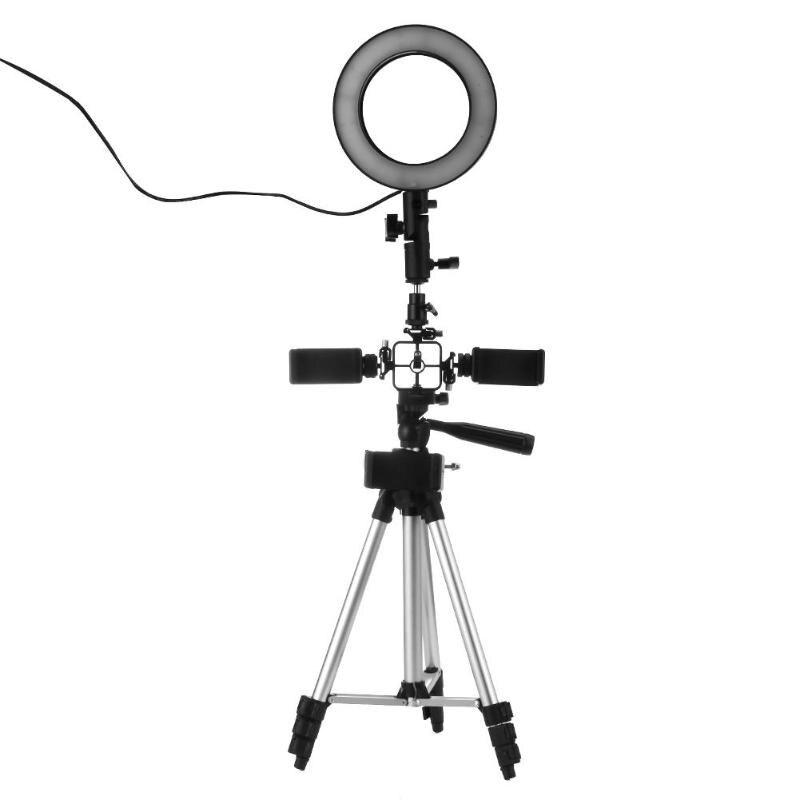Photographie Dimmable led Vidéo studio de direct Caméra lumière annulaire Photo Téléphone éclairage vidéo avec bâton de selfie trépied