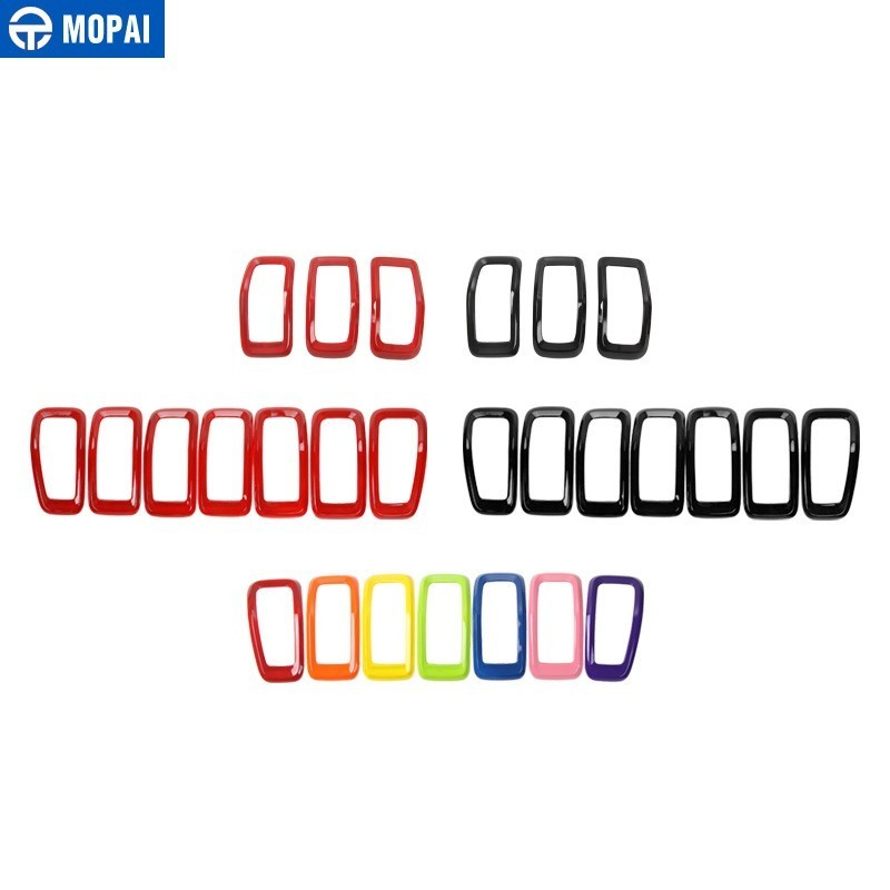 Image 5 - MOPAI Car Sticker for Jeep Cherokee 2014+ ABS Car Front Grilles Decoration Cover Stickers for Jeep Cherokee 2018 Car Accessories-in Car Stickers from Automobiles & Motorcycles