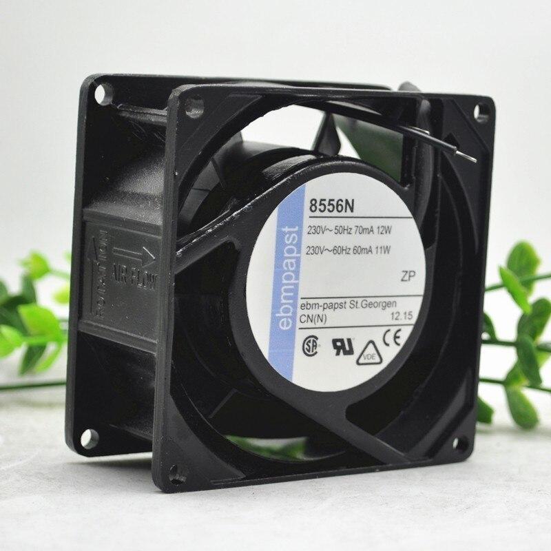 Ebm Papst 8556V AC 230V 60 ~ 70mA 11 ~ 12W 80x80x38mm serveur ventilateur de refroidissement carré