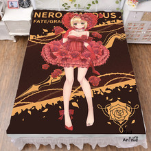 Japanese Anime Game Fate EXTRA Nero Claudius Bed sheets  Bedding Coverlet cartoon bedsheets cosplay fan gift drop shipping