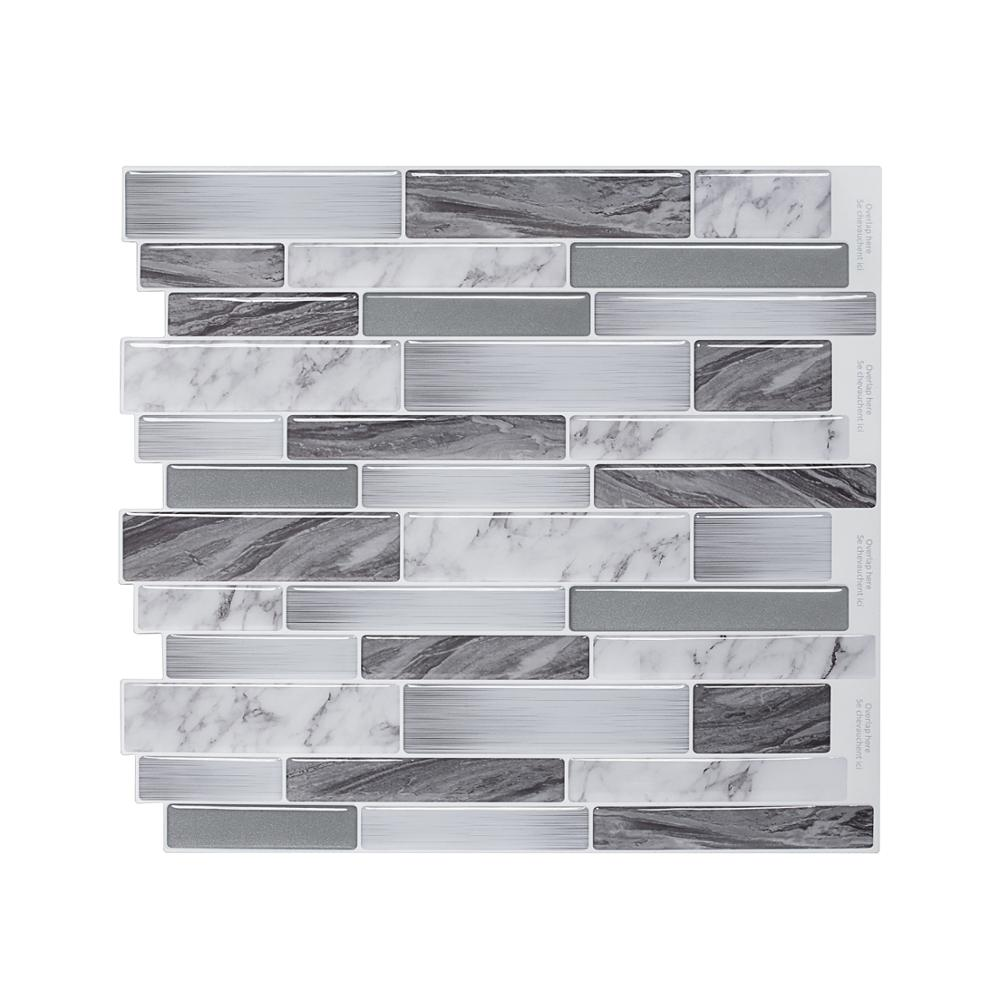US $2.81 40% OFF|Waterproof Self Adhesive Wallpaper Peel and Stick Kitchen  Backsplash Decor Tile-in Wall Stickers from Home & Garden on Aliexpress.com  ...