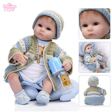 Reborn Baby Dolls 16 Realistic Silicone Doll Newborn bebes reborn doll Childrens toys gift Soft Model lol