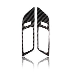 Image 2 - For Ford Mustang 2015 2016 2017 2pcs Carbon Fiber Car Interior Door Panel Door Bowl Decor Cover