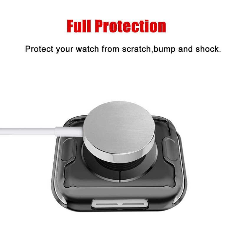 ProBefit 360 wąski zegarek pokrywa dla Apple Watch Case 5 4 3 2 1 42MM 38MM miękki przezroczysty z TPU na ekran Protector dla iWatch 4 3 44MM 40MM