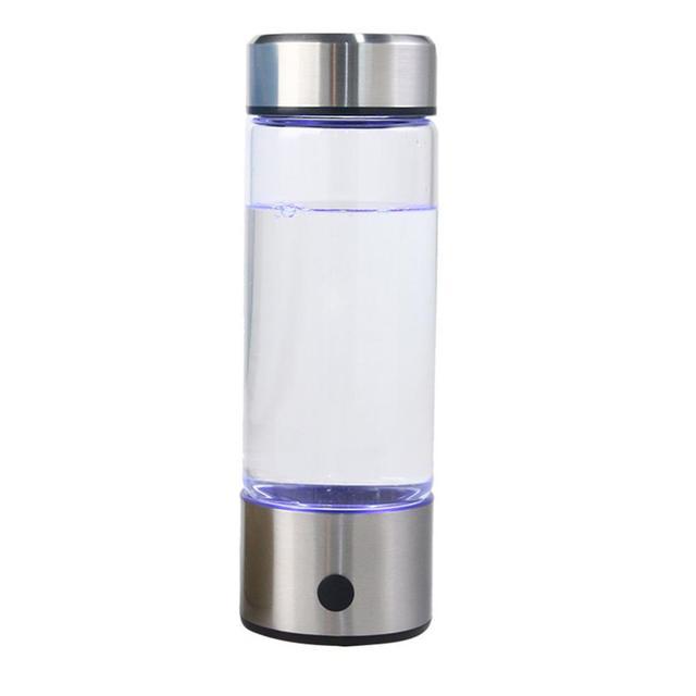 Adoolla 420ML Portable Electrolysis Hydrogen Generator Water Filter Bottle Glass