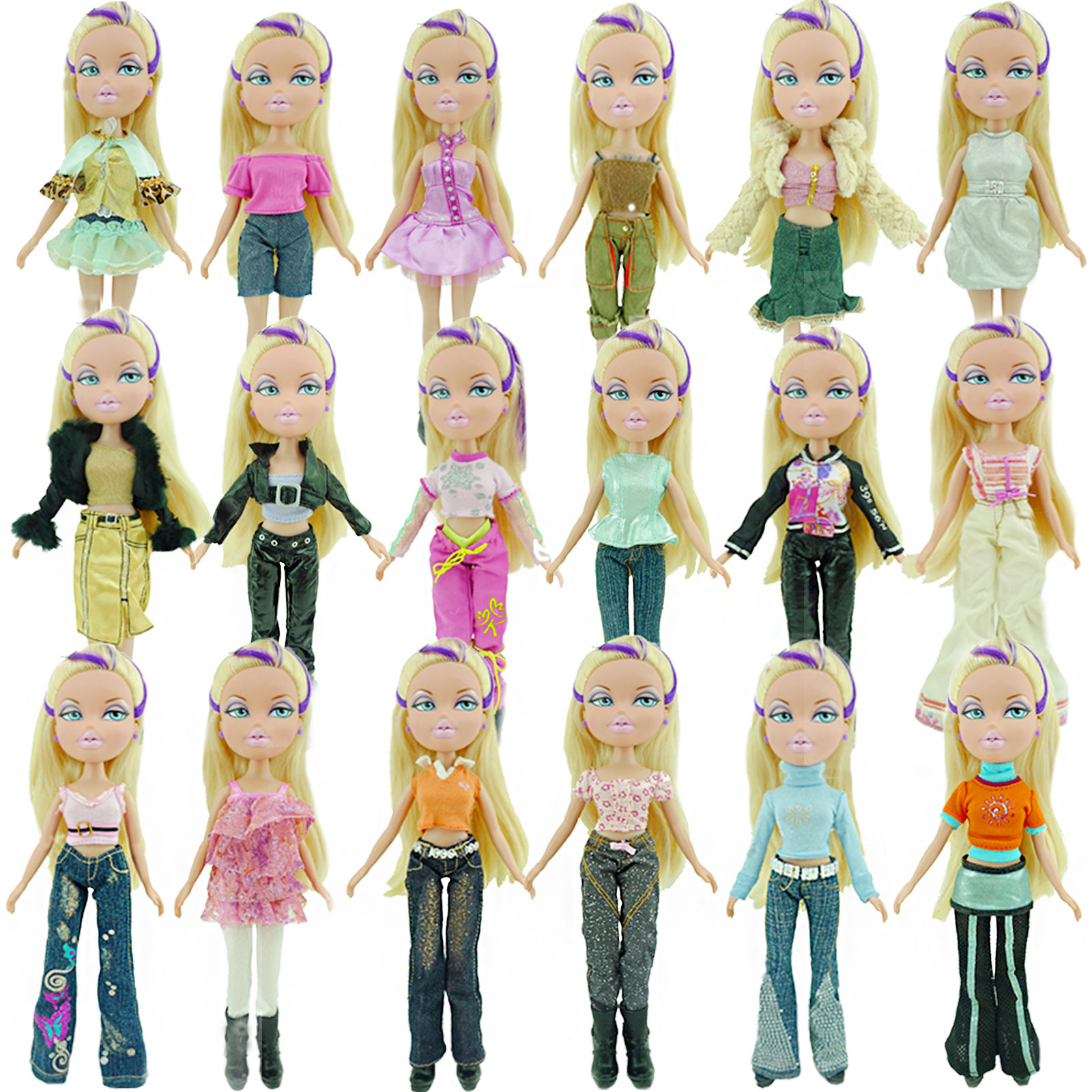 Random 1 Set Outfit Daily Casual Fashion Handmade Trousers Skirt Shirt Vest Coat Dress Clothing Clothes For Bratz 10 In. Doll
