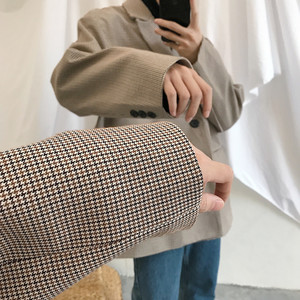 Image 5 - 2019 Spring New Korean Version Of The Campus Wind Long Sleeve Loose Solid Color Casual Blazer Small Fresh Party Tour