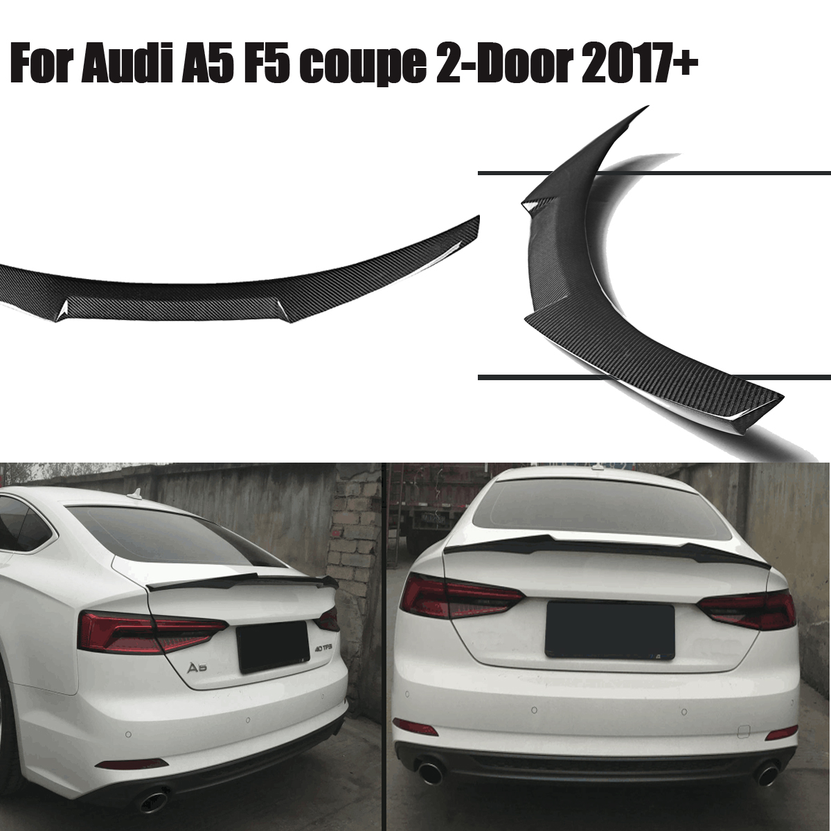 Couvercle de coffre en Fiber de carbone pour coffre arrière pour Audi A5 F5 pour coupé 2 portes M4 2017 2018