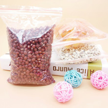 100% purity LDPE zip lock bags packaging plastic small bag zipper food wire sealed