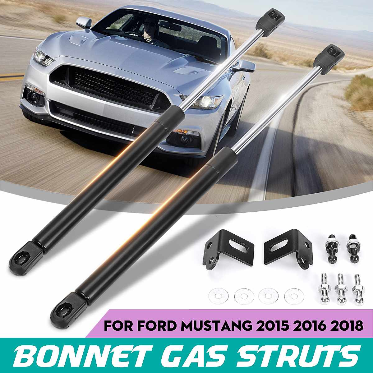 Car Front Engine Hood Cover Shock Lift Struts Support Props Rod Arm Gas Spring Bracket For Ford Mustang 2015 2016 2017 2018