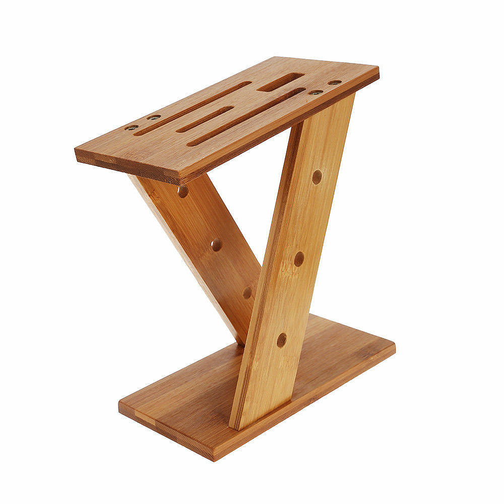 LUDA Modern Kitchen Bamboo Tool Holder Knife Rack Portable Creative Z Shape Knives Storage Rack Tool Wood Knife Stand Blocks