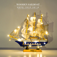 Model Ship Wood Sailboat Retro Military Hull Scale Model Handmade Exquisite Pirate Boat Model Toy Collecting Gifts