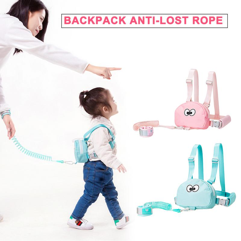 Toddler Harness Walking Leash Child Anti Lost Wrist Link Safety Traction Rope Backpack For Outdoor Travel