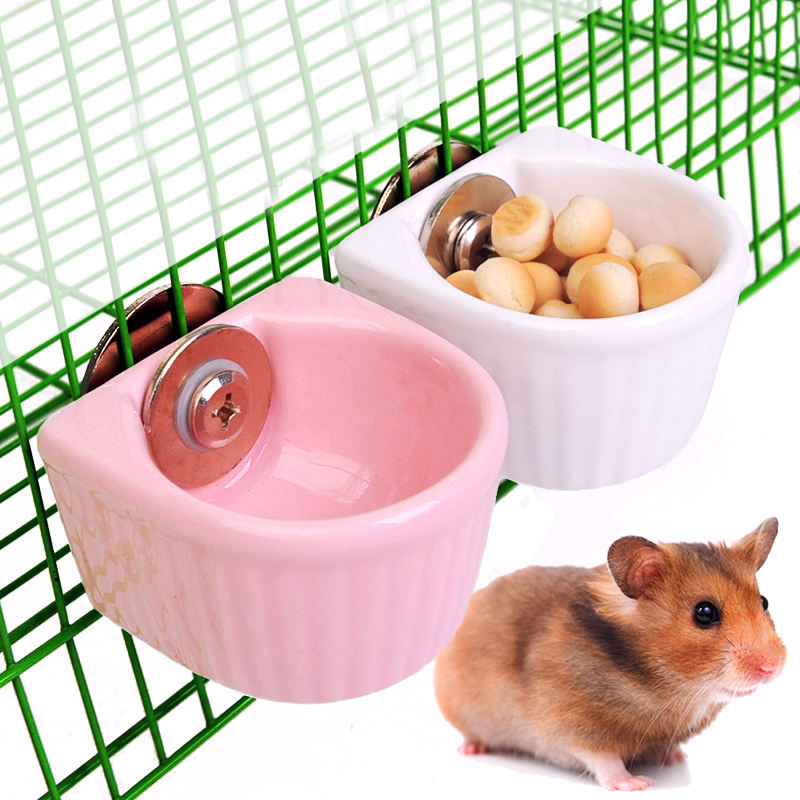 Bird Feeder For Hamster Totoro Ceramic Bowl Clasp Hanging Guinea Pig Squirrel Pets Rabbits Dragon cat squirrel rabbit bowl