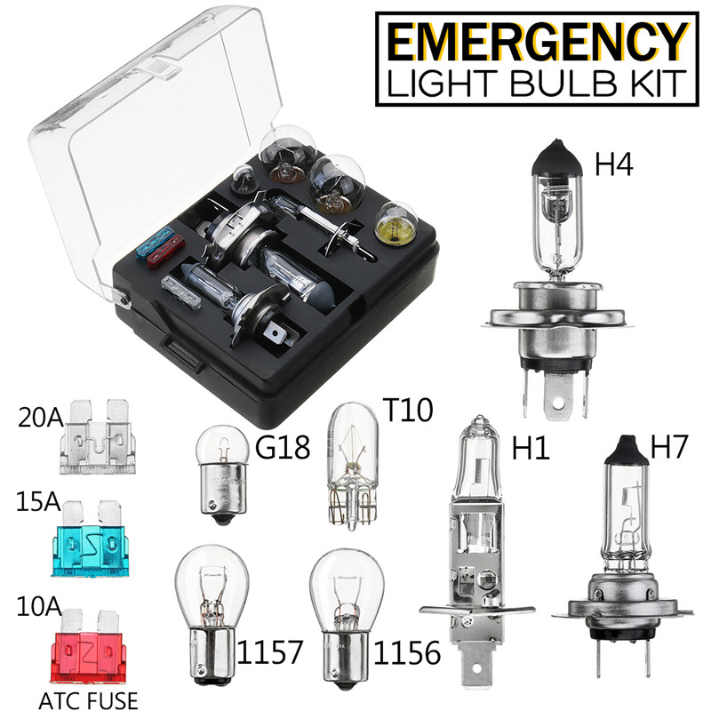 MITSUBISHI SHOGUN PAJERO 12v H4+H4 emergency replacement bulb Fuse set spare KIT