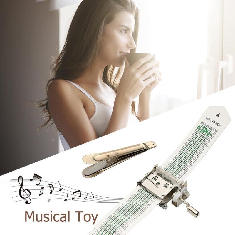 15/30 Hinweis Handkurbel Musik Box Mechanische Musical Box W/loch Puncher 3 Streifen Bänder Kreative Diy Holz Musik Box