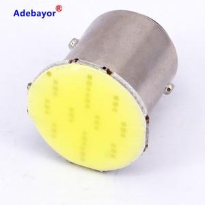 Image 2 - 100X1157 BAY15D COB 12 SMD S25 12 Led stop lamp P21W Auto Car Signal Reverse parking Led Light Brake light white car accessories