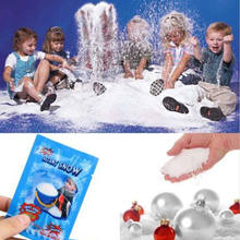 Artificial Snow Fake Magic Instant Snow Fluffy Absorbant Decorations For Christmas Wedding Party Events Diy Snow Decorations(China)
