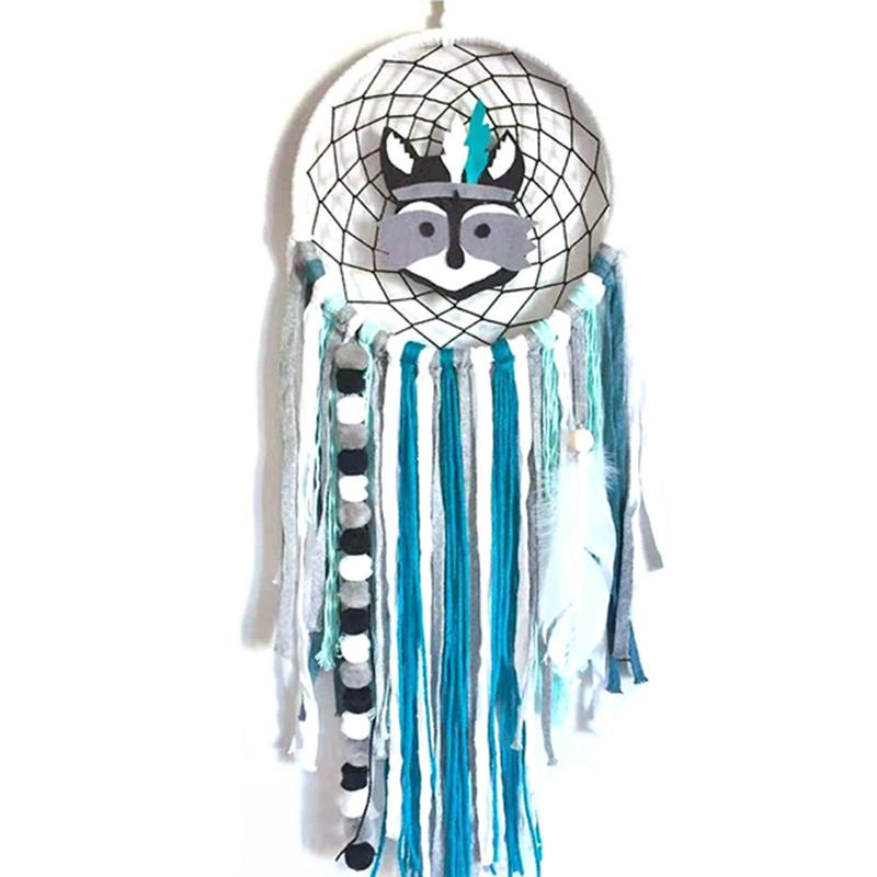 Kids Room INS Nordic Style Indian Chiefs Dream Catcher Wind Chimes Pendant Children's Room Ornaments Hanging Ornaments(China)
