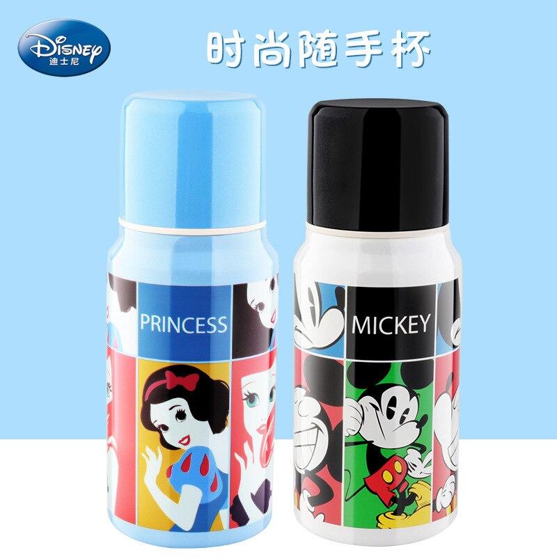 Disney Mickey souris tasses dessin animé acier inoxydable solide alimentation étudiant pratique en plein air enfant sport bouteille droite boisson tasse