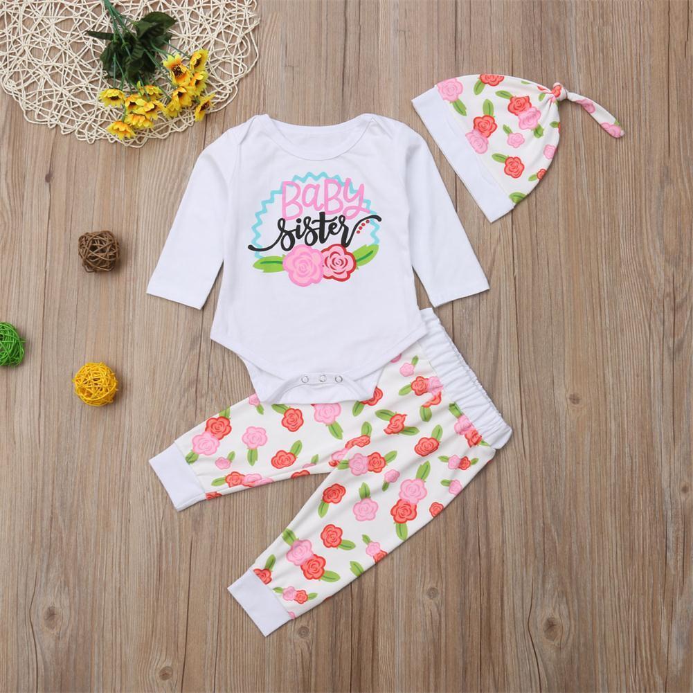 Beb/é Ni/ña Conjunto de Traje de Verano para Big Sister y Little Sister Camiseta de Manga Corta Romper Floral Shorts Diadema 3 Fotos Juego de Ropa