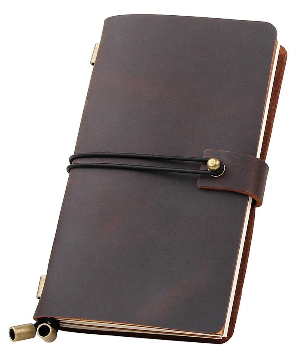 Genuine Leather Notebook Vintage Cowhide Diary Refillable Handmade Travelers Retro Journal Sketchbook
