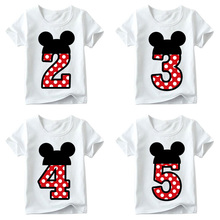 Baby Boys/Girls Happy Birthday Number T shirt