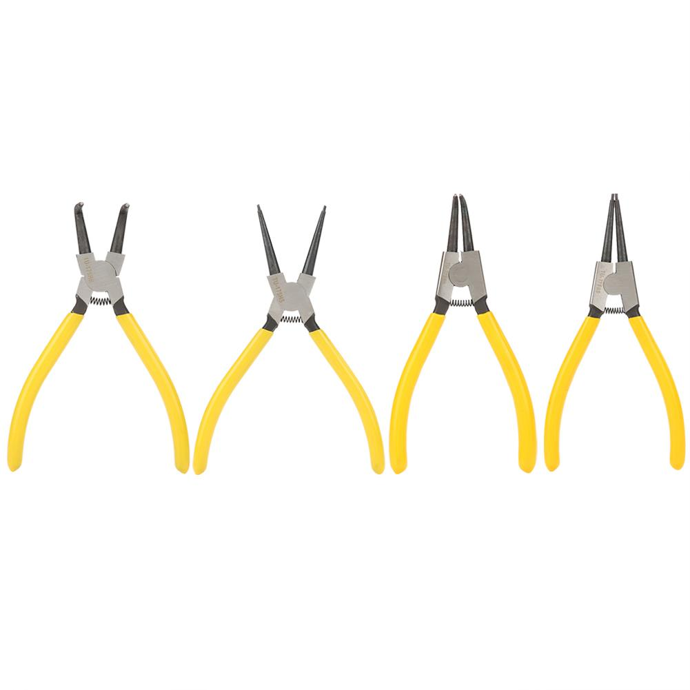 DemüTigen 7in Griff Edelstahl Gekrümmte Sicherungsring Snap Ring Zange Halte Mechanische Werkzeug Neue Großhandel Durchsichtig In Sicht Handwerkzeuge Zangen