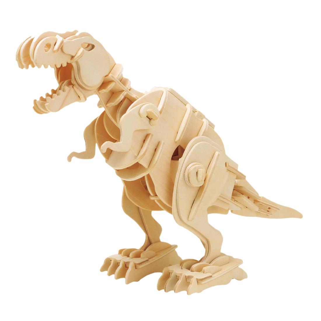 Robotime juguete Control de sonido a T-Rex 3D asamblea modelo de bricolaje Kits de construcción de células madre para el regalo de los niños