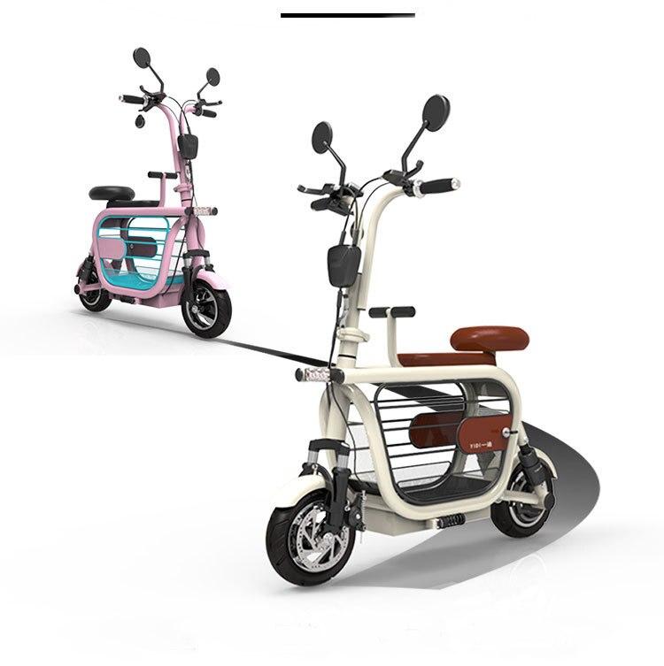 Moto électrique Scooter adulte 2 roues Scooters électriques 580 W 48 V Mini Portabke vélo électrique vélo avec deux sièges