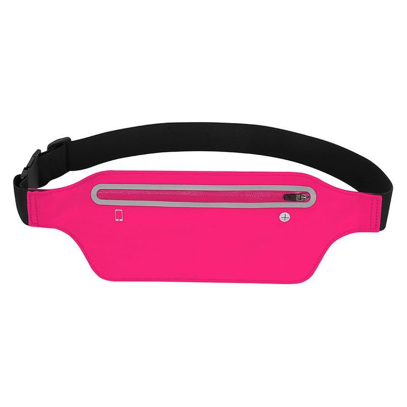 Unisex hombres mujeres deportes al aire libre Invisible profesional impermeable Running bolsillos riñonera bolsa paquete gimnasio Running Jogging cinturón