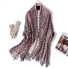 efa08ce5521 2019 hiver femmes imprimé léopard écharpe Imitation cachemire foulards pour  dame Pashmina châles et enveloppes cou