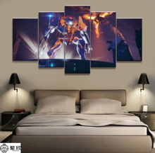 5 Panel Destiny 2 Warfare Robot Game Canvas Printed Painting Living Room Wall Art Decor Picture Artworks Poster Wholesale