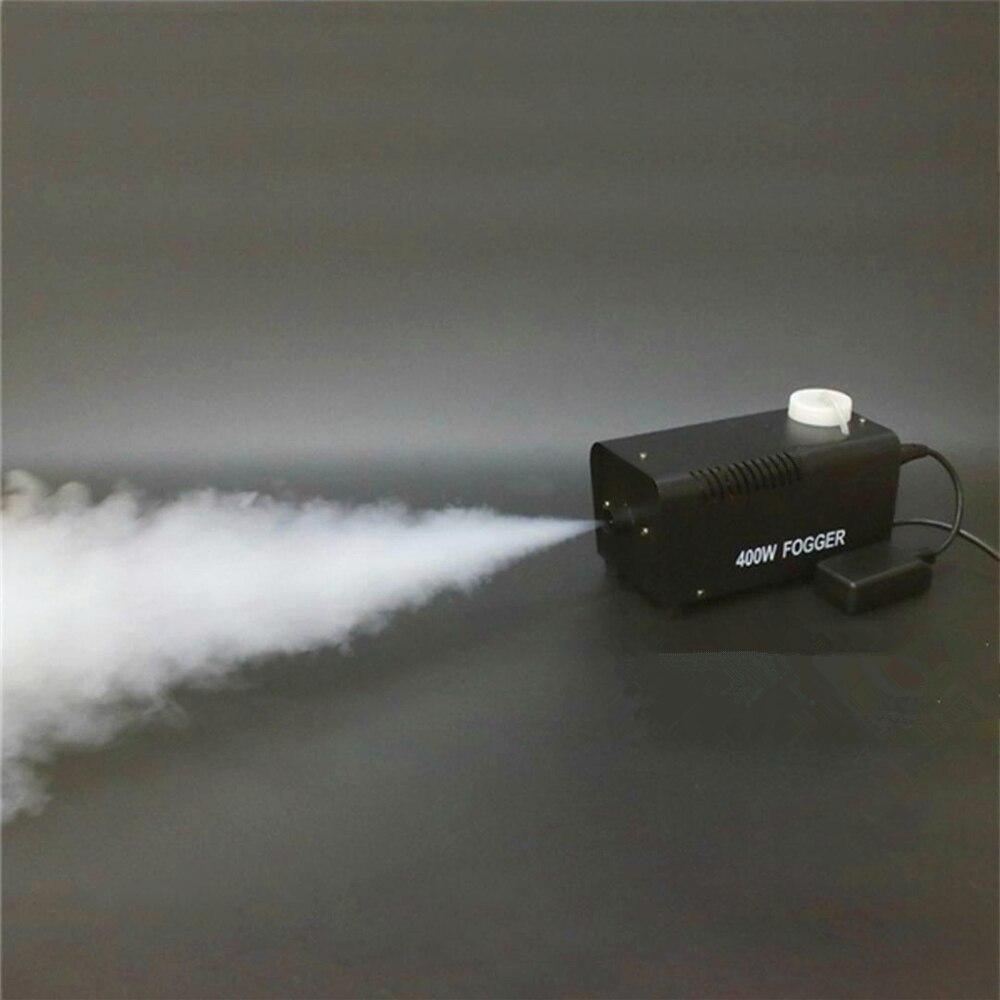 Máquina de fumaça/mini remote fogger ejetor/festa em casa palco dj máquina de nevoeiro/400 w lançador de fumaça/disco casamento lançador de nevoeiro portátil