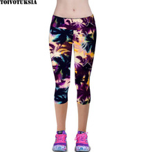 TOIVOTUKSIA Leggings for Women Capris Leggins High Waist Elastic Exerc