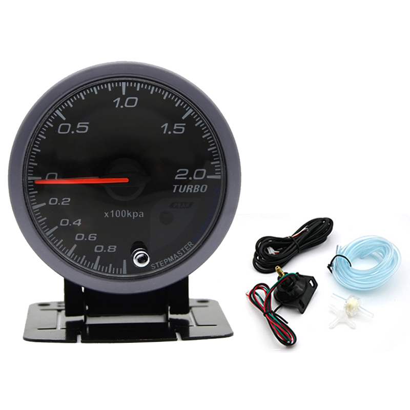 2.5/ 60mm Car LED Turbo Boost Gauge Vacuum Press Pressure Bar Meter Sensor Pro