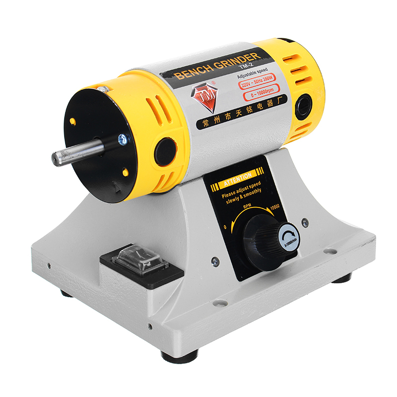 Image 4 - 220V 350W Polishing Machine for Jewelry Dental Bench Lathe Machine Motor Grinder With Accessories-in Polishers from Tools