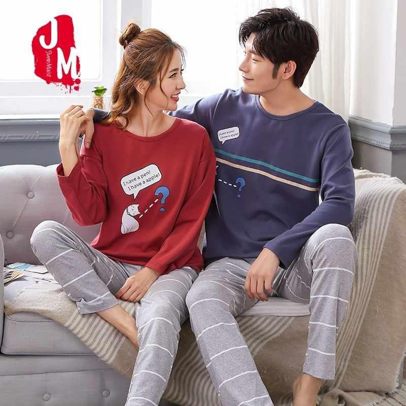 Sleepwear sleepwear homem manga longa casal algodão pijama venda 4xl o-pescoço inverno pijamas masculino dos desenhos animados dos homens xxxl conjuntos de pijamas