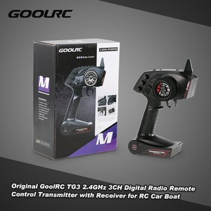 Image 1 - Оригинальный цифровой радиопередатчик GoolRC TG3, 2,4 ГГц, 3 канала, дистанционное управление с приемником для радиоуправляемой машины, лодки